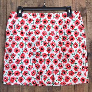 J. Crew Floral Skirt Size 4